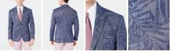 Lauren Ralph Lauren Men's Classic-Fit Blue Denim Palm-Print Knit Sport Coat
