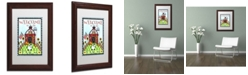 "Trademark Global Jennifer Nilsson Down on the Farm Matted Framed Art - 16"" x 20"" x 0.5"""