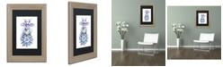 "Trademark Global Jennifer Nilsson Warm Wishes - Dragon Matted Framed Art - 35"" x 47"" x 2"""