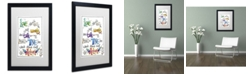 "Trademark Global Jennifer Nilsson Words of Love - Love in Action Matted Framed Art - 11"" x 14"" x 0.5"""
