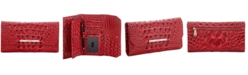 Brahmin Soft Checkbook Carnation Melbourne Embossed Leather Wallet- Created For Macy's