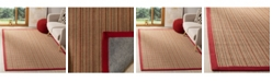Safavieh Natural Fiber Brown and Red 5' x 8' Sisal Weave Area Rug