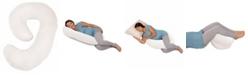 Leachco Snoogle Mini Chic Jersey Maternity/Pregnancy Compact Side Sleeper