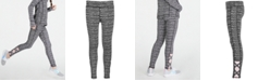 Ideology Big Girls Static-Print Caged Leggings, Created for Macy's
