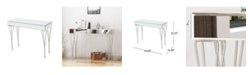 Noble House Ophelia Modern Glam Mirrored Console Table