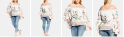 City Chic Plus Size Off-The-Shoulder Primavera Top
