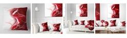 """Design Art Designart '3D Fractal Abstract Design' Abstract Throw Pillow - 16"""" x 16"""""""