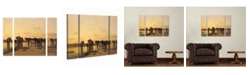 "Trademark Innovations Charles Emile De Tournemine 'African Elephants' Multi Panel Art Set Small 3 Piece - 44"" x 34"" x 2"""