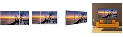 "Chic Home Decor Hawaii Sunset 3 Piece Wrapped Canvas Wall Art Set -20"" x 40"""