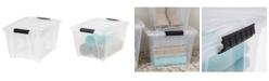 IRIS USA Iris 32 Quart Stack and Pull Box with Handles