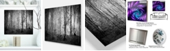 "Design Art Designart 'Morning In Thick Fall Forest' Landscape Metal Wall Art - 20"" X 12"""