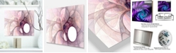 "Design Art Designart 'Light Purple Fractal Angel Wings' Abstract Metal Wall Decor Panel - 20"" X 12"""