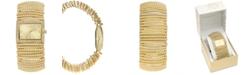 Charter Club Women's Stretch Gold-Tone Bracelet Watch 42mm, Created for Macy's
