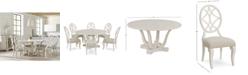 Furniture Trisha Yearwood Jasper County Dogwood Round Dining Furniture, 7-Pc. Set (Table & 6 Side Chairs)