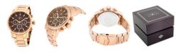 Joseph Abboud Men's Analog Rose Gold Stainless Steel Bracelet Watch 28mm