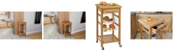 Spacemaster Bamboo Kitchen Cart With Storage