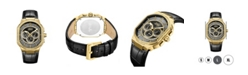 Jbw Men's Orion Diamond (1/8 ct.t.w.) 18k Gold Plated Stainless Steel Watch