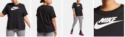 Nike Plus Size Sportswear Cotton Logo T-Shirt