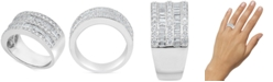 Macy's Diamond Baguette Multi-Row Band (1-1/2 ct. t.w.) in 14k White Gold