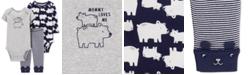 Carter's Baby Boys 3-Pc. Polar Bear-Print Cotton Bodysuits & Pants Set