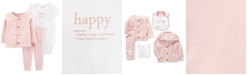 Carter's Baby Girls 3-Pc. Happy Cardigan, Bodysuit & Pants Set