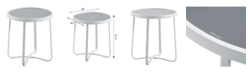 Elle Decor Mirabelle Outdoor Side Table, Quick Ship