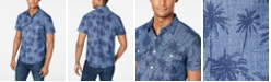 Lucky Brand Men's Classic-Fit Stretch Palm-Print Chambray Shirt