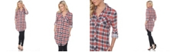 White Mark Women's Piper Stretchy Plaid Tunic