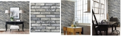 "Brewster Home Fashions Painted Brick Wallpaper - 396"" x 20.5"" x 0.025"""