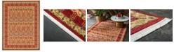 Bridgeport Home Orwyn Orw3 Red/Tan 9' x 12' Area Rug
