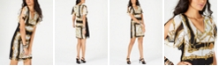 Thalia Sodi Printed Necklace Shift Dress, Created for Macy's