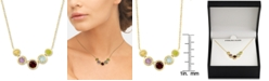 "Macy's Multi-Gemstone 18"" Pendant Necklace (2-3/8 ct. t.w.) in 18k Gold Over Sterling Silver"
