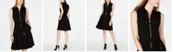 Michael Kors Belted Zip-Front Shirtdress, in Regular & Petite Sizes