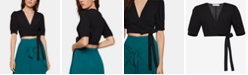 BCBGeneration Cropped Wrap Top