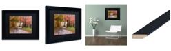 """Trademark Global Jason Shaffer 'Forgotten Vermilion' Matted Framed Art - 14"""" x 11"""""""