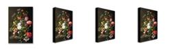 """Trademark Global Jan Davidsz. de Heem 'Still Life of Flowers' Canvas Art - 47"""" x 30"""""""