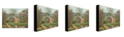 """Trademark Global Camille Pissarro 'The Cottage' Canvas Art - 24"""" x 18"""""""