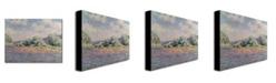 "Trademark Global Claude Monet 'The Seine at Port Villez' Canvas Art - 32"" x 24"""