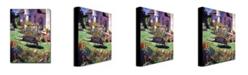 "Trademark Global David Lloyd Glover 'Color Garden Impression' Canvas Art - 47"" x 35"""