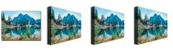 "Trademark Global David Lloyd Glover 'Reflections on Gem Lake' Canvas Art - 24"" x 18"""
