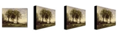 "Trademark Global Jean Baptiste Corot 'The Goatherds of the Castle' Canvas Art - 32"" x 24"""