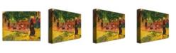 "Trademark Global Paul Gauguin 'Taperaa Mahana' Canvas Art - 32"" x 24"""