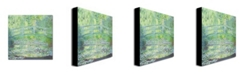 "Trademark Global Claude Monet 'Waterlily Pond-The Bridge II' Canvas Art - 18"" x 18"""