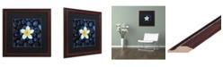 "Trademark Global David Evans 'Plumeria & Pebbles 1' Matted Framed Art - 16"" x 16"""