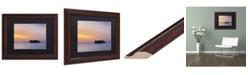 """Trademark Global David Evans 'Sunset Solitude-Maldives' Matted Framed Art - 11"""" x 14"""""""