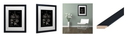 """Trademark Global Claire Doherty 'Bicycle Patent 1890 Black' Matted Framed Art - 16"""" x 20"""""""