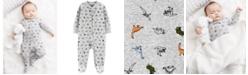 Carter's Baby Boys 1-Pc. Dinosaur-Print Footed Pajama