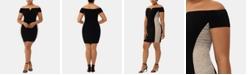 XSCAPE Plus Size Beaded Off-The-Shoulder Sheath Dress