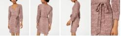 City Studios Juniors' Animal-Print Surplice Wrap Dress