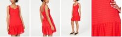 City Studios Juniors' Ruffled Tie-Back Dress